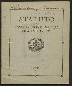Statuto della Associazione mutua fra impiegati