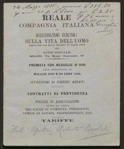 Istruzioni ai signori agenti / Reale compagnia italiana di assicurazioni generali