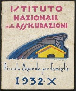 Piccola agenda per le famiglie : offerta in dono dall'Istituto nazionale delle assicurazioni